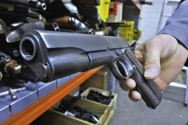 Gericht: Stadt hat Waffen zu Recht überprüft