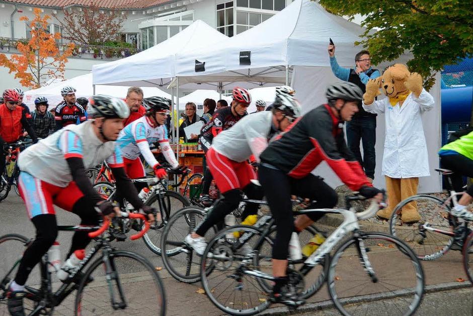 Sport und Spaß standen in Binzen im Mittelpunkt der Tour de Hieber am Tag der Deutschen Einheit. (Foto: Markus Maier)