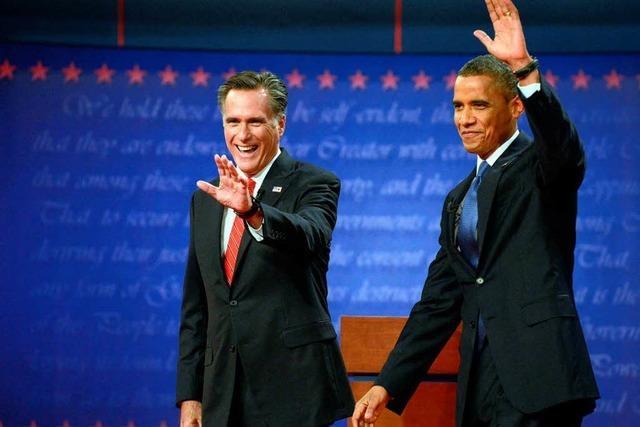 TV-Duell: Angriffslustiger Romney setzt Obama unter Druck