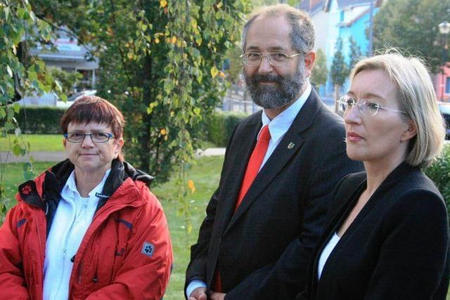 Ernst-Thälmann-Platz wird der Partnerstadt Müllheim gewidmet