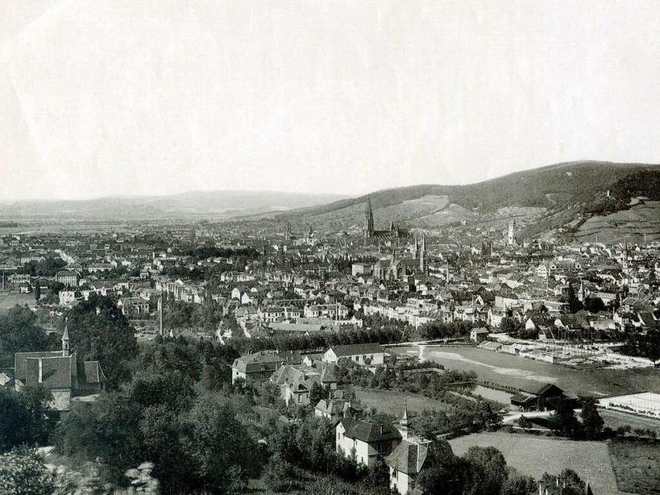 Den Blick von Hildaturm über die Unter...Allee weithin sichtbare Lorettostraße.  | Foto: Archiv Peter Kalchthaler