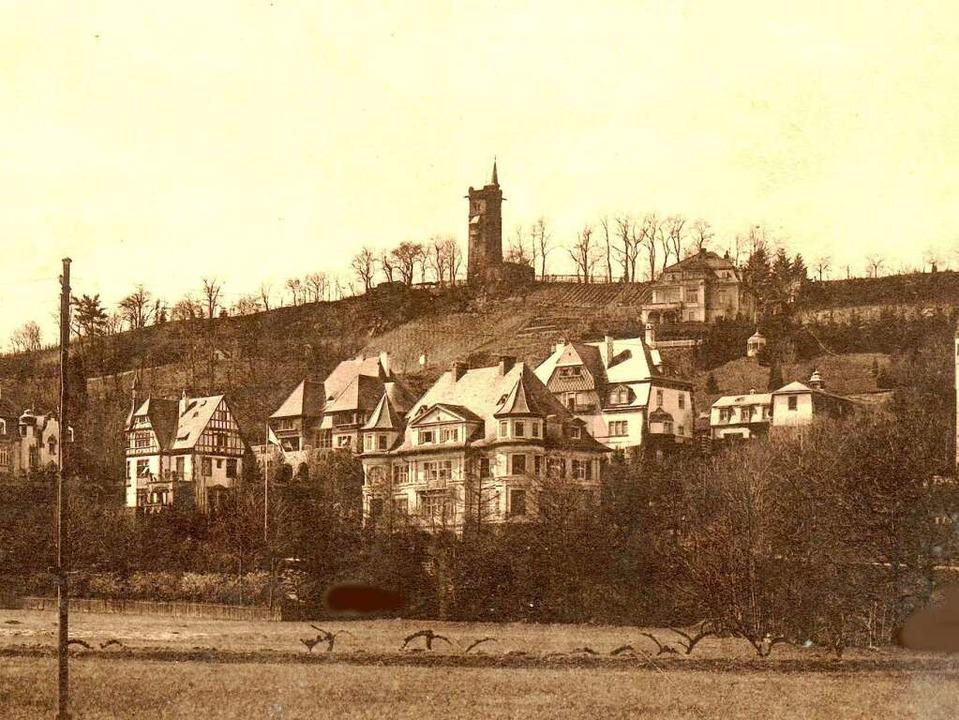 Die Villa Sakura direkt unter dem Hildaturm auf dem Lorettoberg (Foto von 1910).    Foto: privat