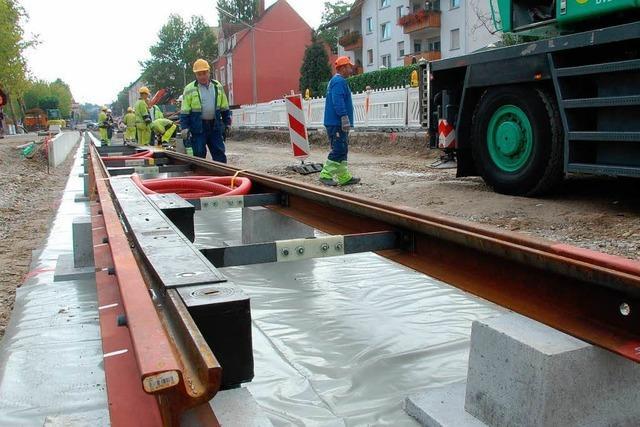 Tram von Basel nach Weil am Rhein wird 2013 nicht mehr fertig