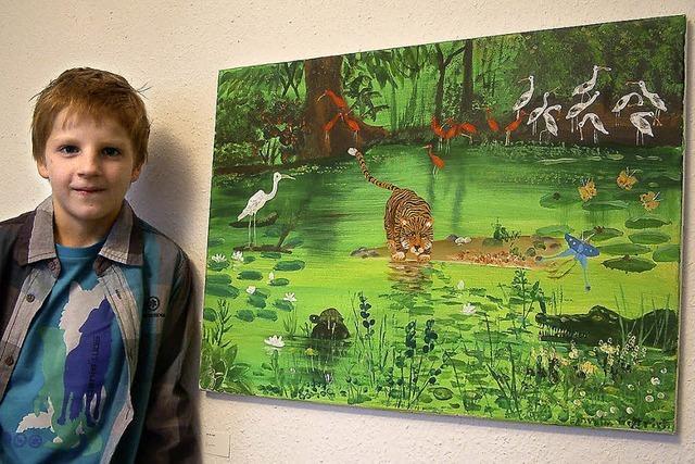 Löwenstark – der Künstler zählt gerade mal 10 Jahre