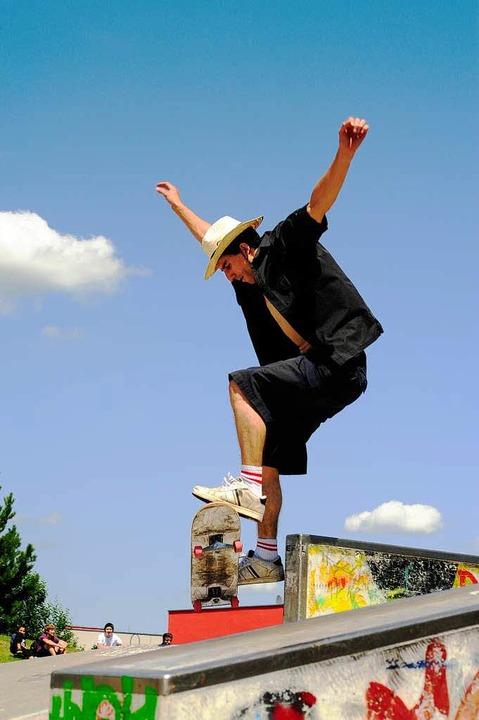 Im Rieselfeld steht bisher Freiburgs einzige öffentliche Skateanlage.  | Foto: Thomas Kunz