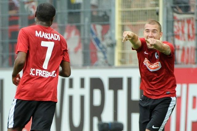 Der SC Freiburg schlägt den 1. FC Nürnberg mit 3:0