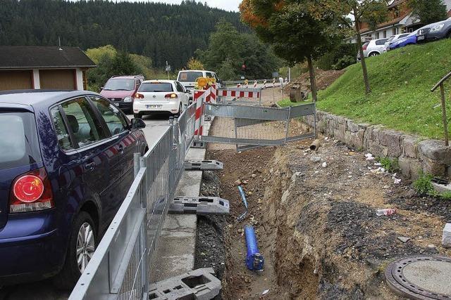 Sanierungsarbeiten an der L156 bis zur Ortsmitte in vollem Gange