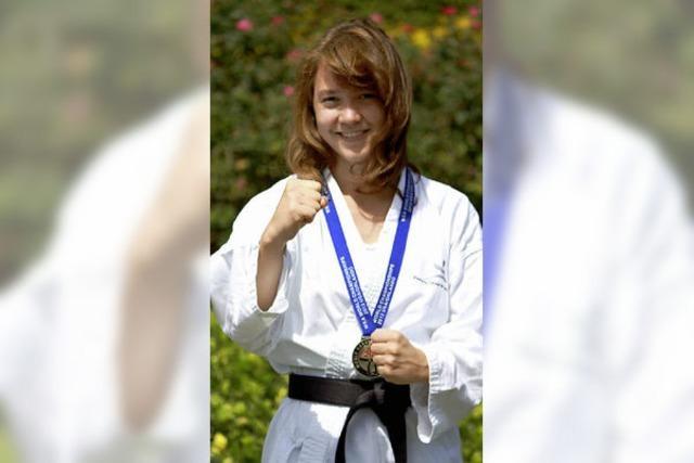 Weltmeisterin im Karate