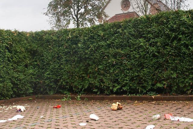 Müll einfach liegengelassen
