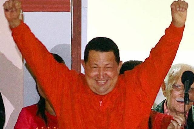 Staatschef Chávez gewinnt Wahl in Venezuela