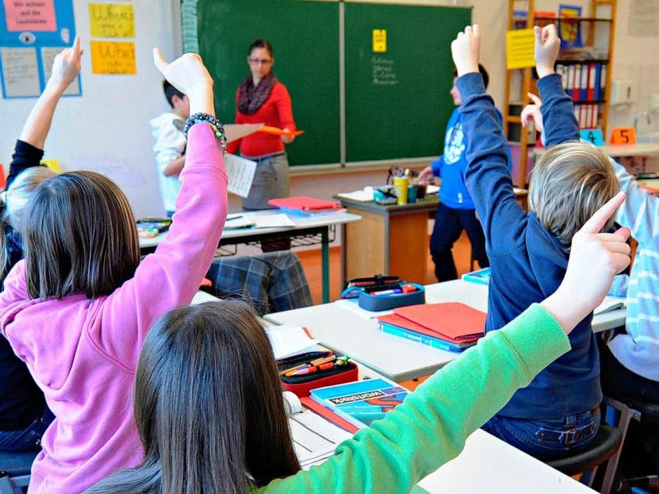 Beim Leistungsvergleich erzielten die Schüler aus Bayern die besten Ergebnisse.    Foto: dpa