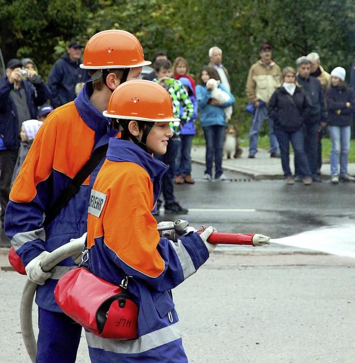 Die Jugendfeuerwehr zeigte beeindruckend ihr Können beim<ppp></ppp>  | Foto: Eva Korinth, akh