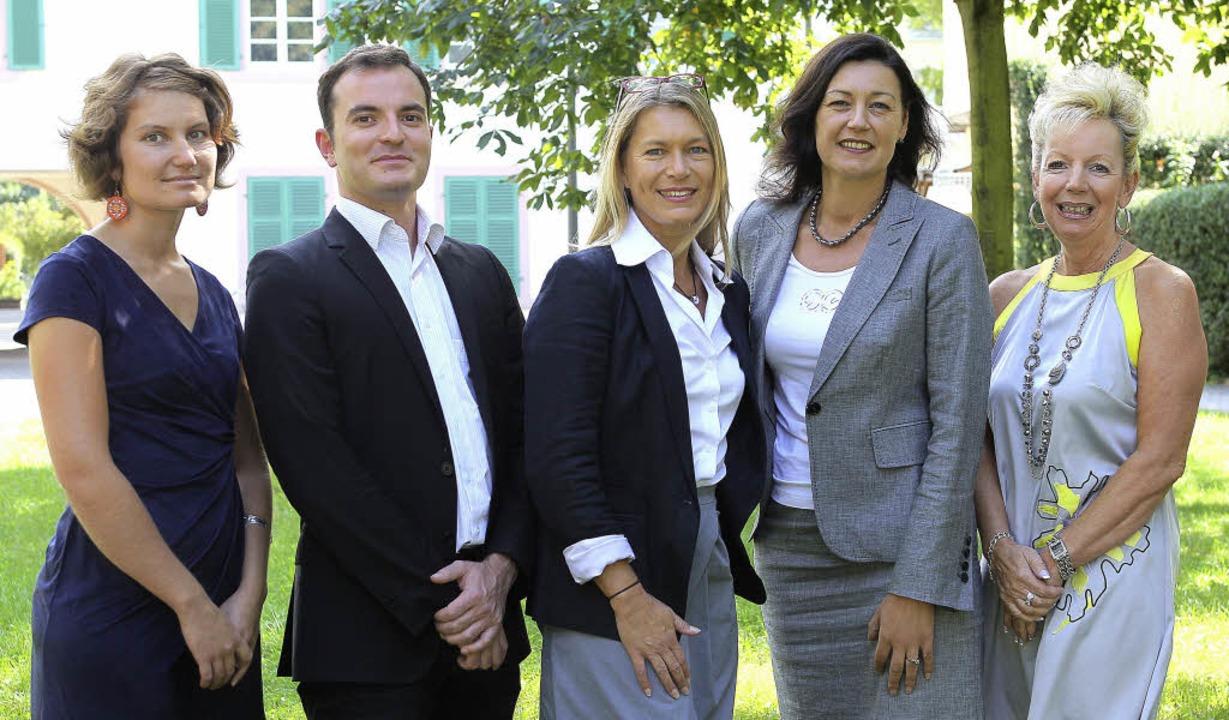 Das Team des Generalsekretariats (von ...é, Direktionsassistentin/Buchhalterin     Foto: eurodistrikt