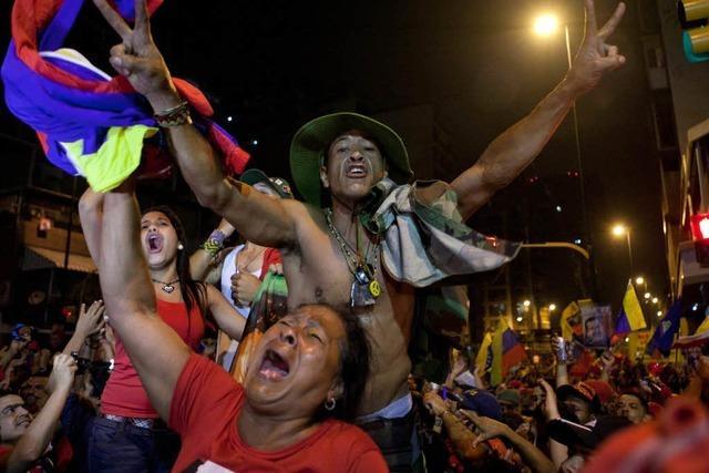 Hugo Chàvez siegt in Venezuela