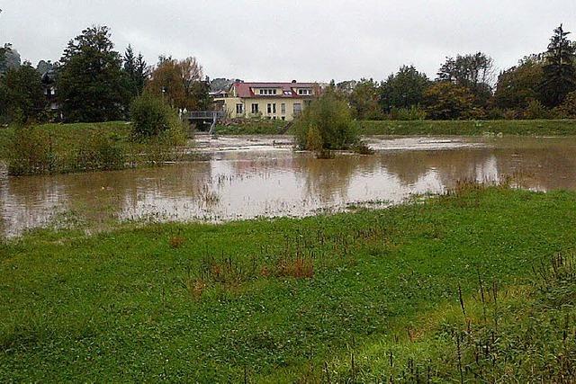 Dorfbach trat über die Ufer