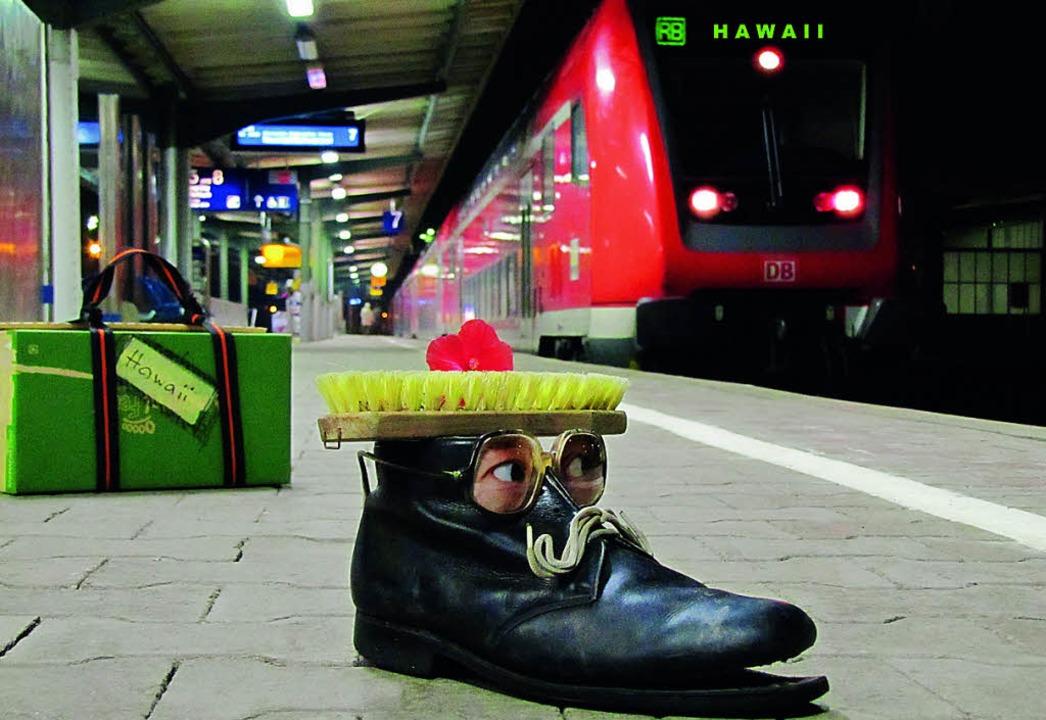 Heinz Schlapp am Bahnhof  | Foto: Hansjörg Palm