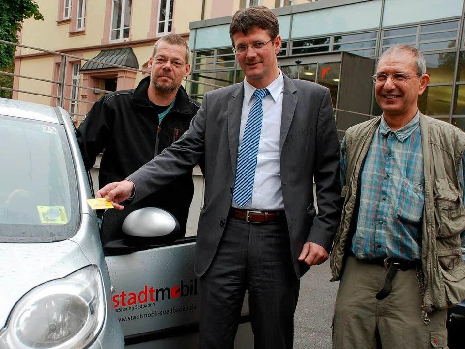 Die Stadt ist dank Car-Sharing auch oh...d Frank C. Lasch vom Verein Zeitauto.   | Foto: Siefke