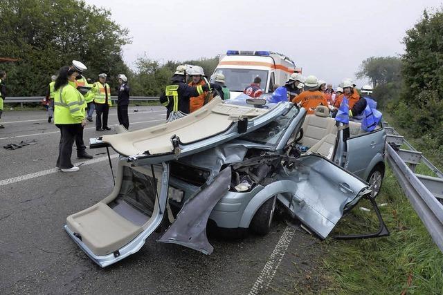 Schwerer Verkehrsunfall bei Lahr
