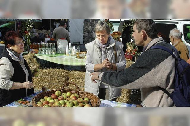 Ein Markt rund um den Apfel