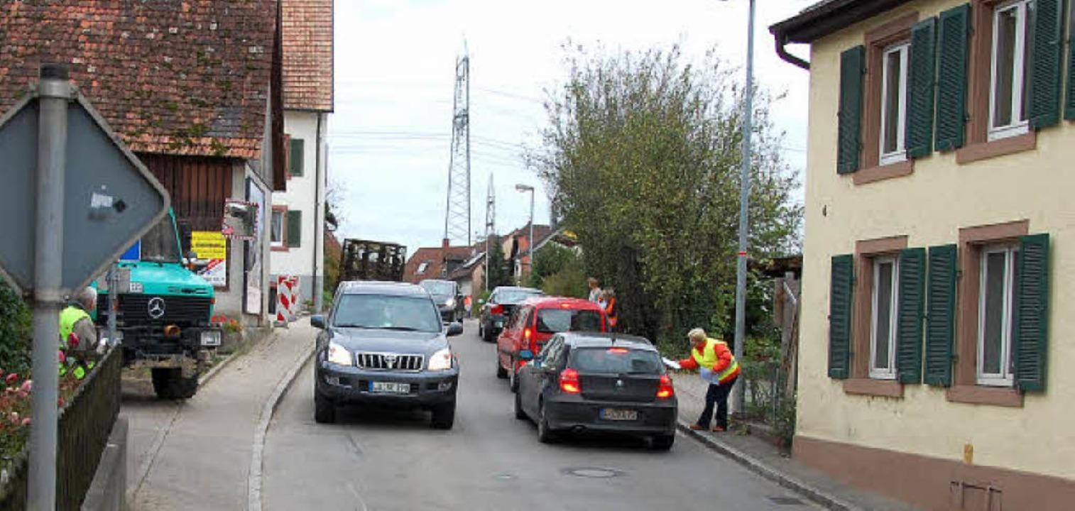 Die Bürgerinitiative kämpft für die Or...  mit Anschluss der Lörracher Straße.   | Foto: Frey