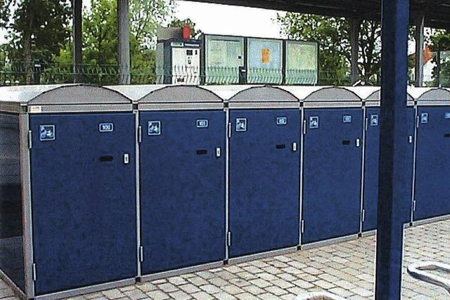 Neue Fahrradboxen für den Bahnhof