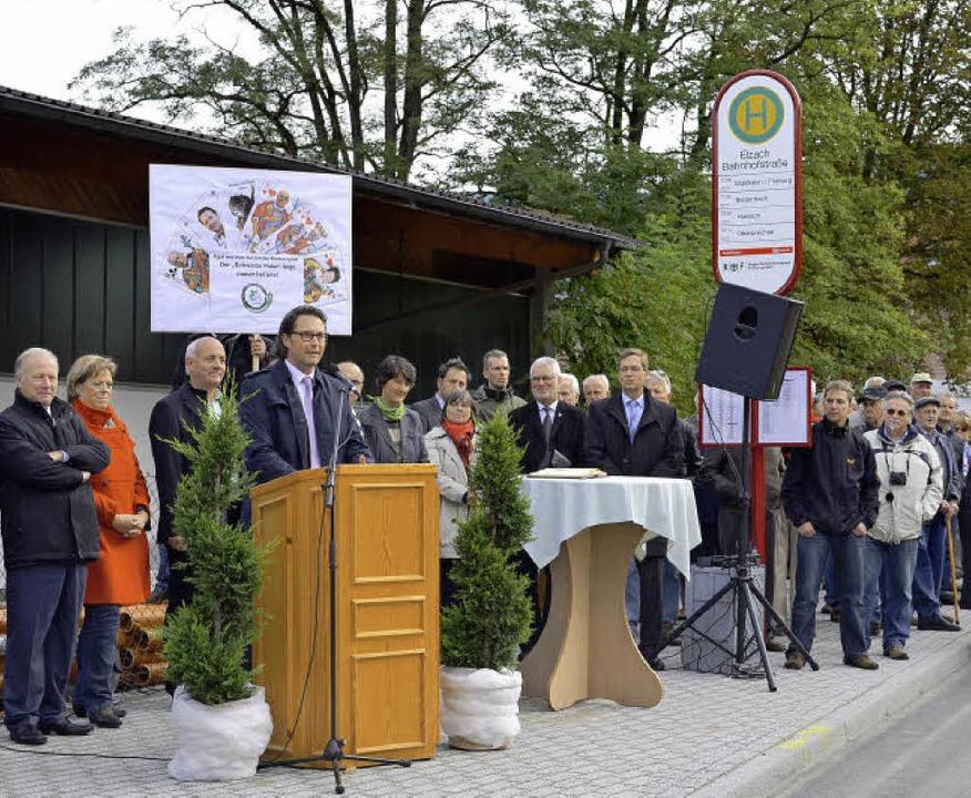 Eröffnung am 8. Oktober: Staatssekretä...Decker und Landrat Hanno Hurth (v.li.)  | Foto: Nikolaus Bayer