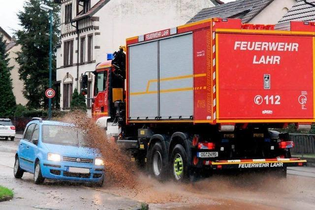 Überschwemmungen in Kuhbach und Reichenbach nach heftigem Regen