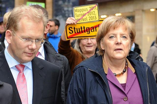 Merkel springt dem Stuttgarter OB-Kandidaten Turner zur Seite