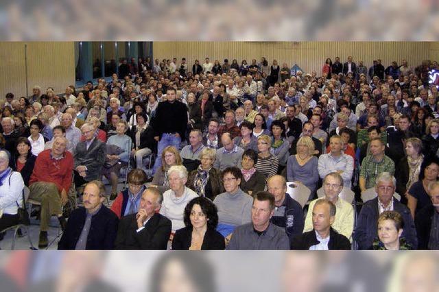 Auge in Auge mit mehr als 400 Bürgern