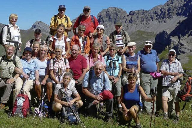 In großen Höhen in der Bergwelt am Lech