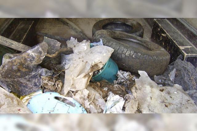 Wilde Müllablagerungen