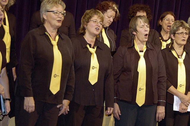 Chorios-Sänger präsentieren sich stimmgewaltig