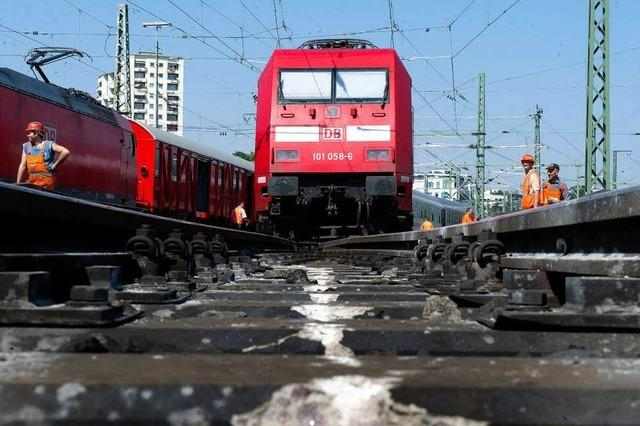 Gleis 10 in Stuttgart ist bis Ende Oktober unbefahrbar