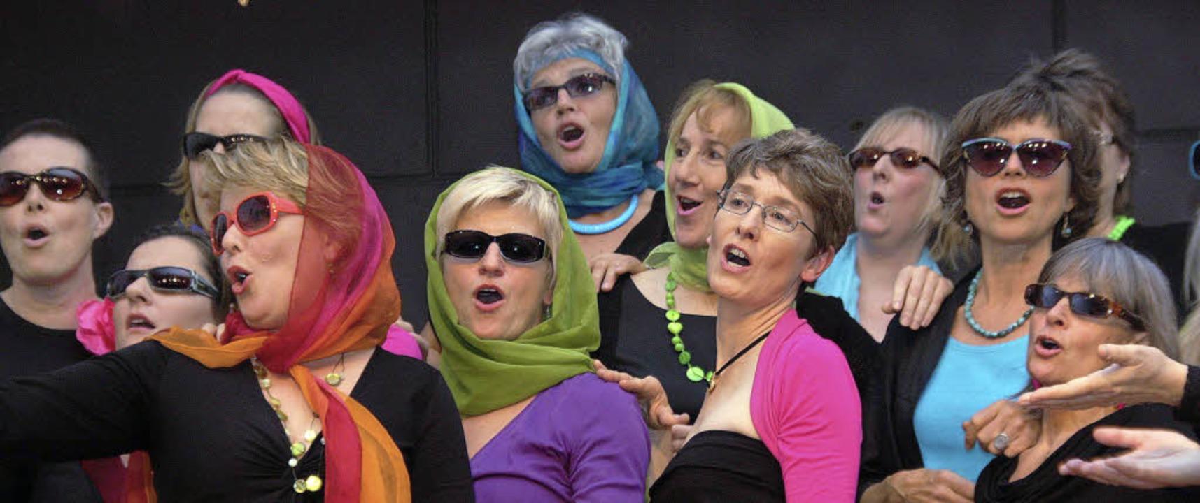 Witzig und gut: der Chor Rhythmix aus Au.  | Foto: Silvia Faller