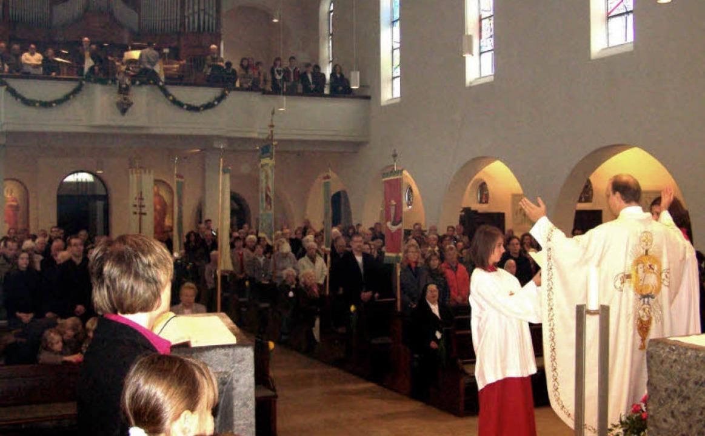 Festlich geschmückt war die renovierte.... Urban, die am Sonntag geweiht wurde.  | Foto: Hans Sigmund