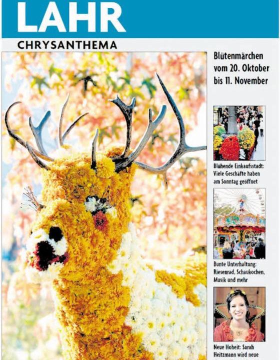 Zur Chrysanthema erscheint morgen, Freitag, eine 24-seitige Sonderbeilage.  | Foto: Repro: BZ