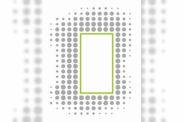 Grüner Kasten, graue Punkte