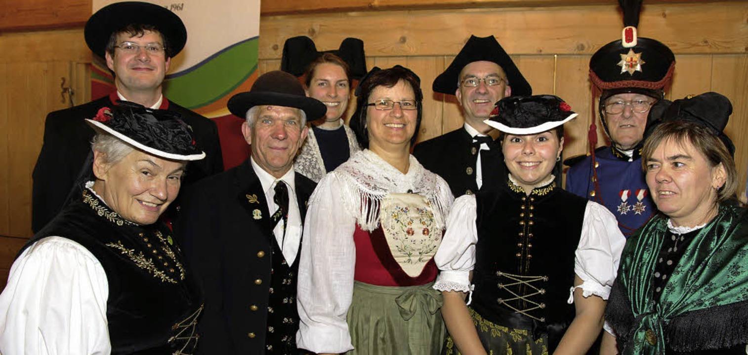 In ihren  Ortstrachten kamen Vertreter...nvereine zur Breitnauer Kreistagung.    | Foto: eva korinth