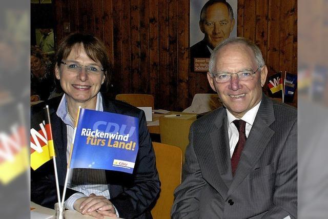 95,5 Prozent für Wolfgang Schäuble