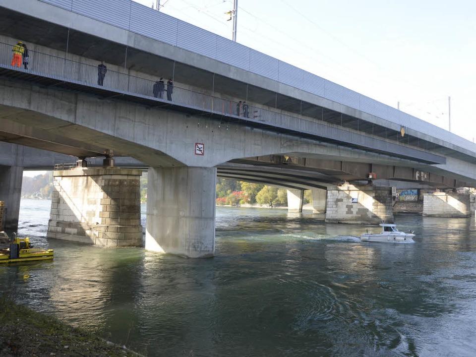 Die neue Rheinbrücke kurz vor der Einweihung.     Foto: Alexander M. Preker
