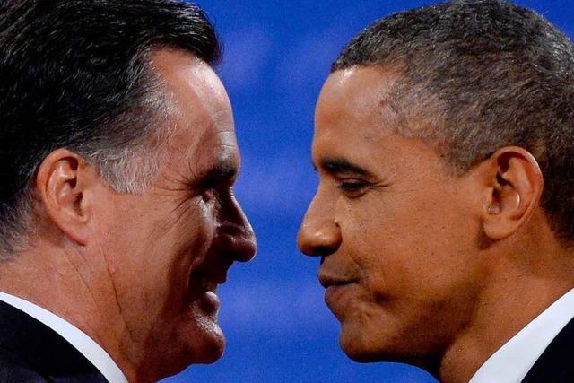 Obama punktet in TV-Debatte - Romney hält sich zurück