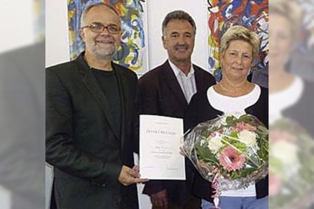 Regina Wagner geehrt