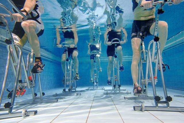 Rekordradeln unter Wasser in Freiamt
