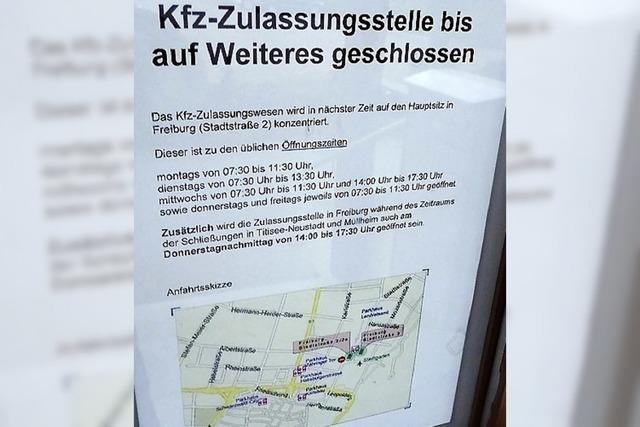 Kfz-Zulassungstelle in Neustadt bleibt weiterhin geschlossen