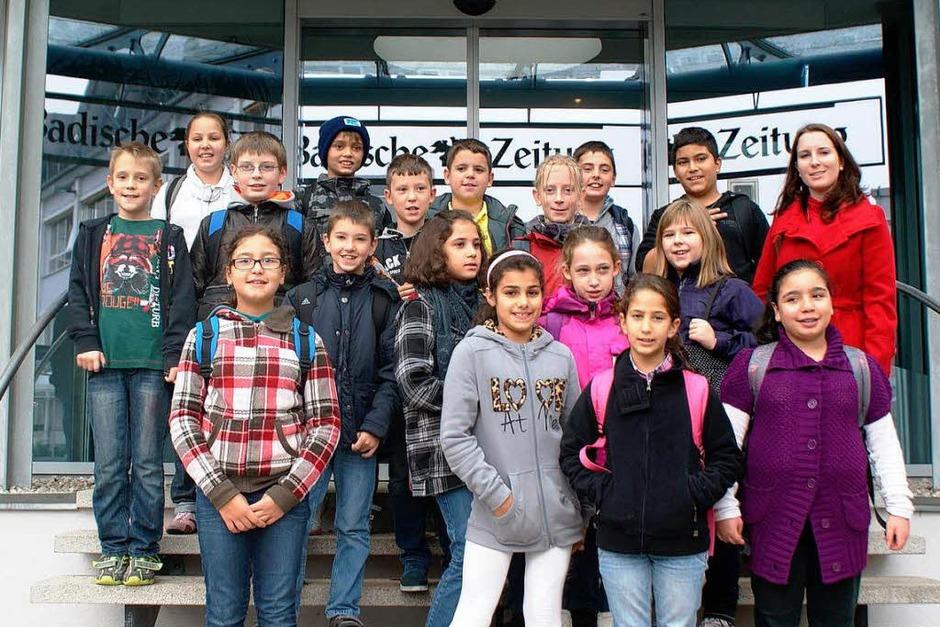 Die Klasse 4a der Rheinschule aus Weil am Rhein mit ihrer Lehrerin Frau Tanja Trojahn (Foto: BZ)
