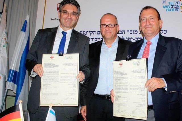 Tel Aviv und Freiburg feiern