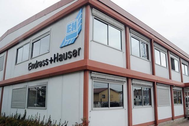 Endress + Hauser darf neues Produktionsgebäude erreichten