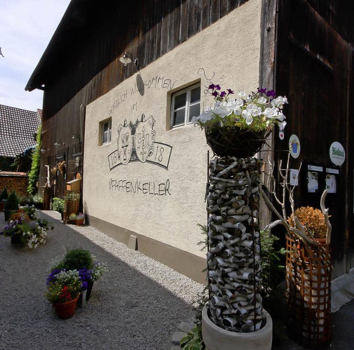 """Strikte Regionalität:  Der """"Pfaffenkeller"""" in Wollbach     Foto: ©RB"""