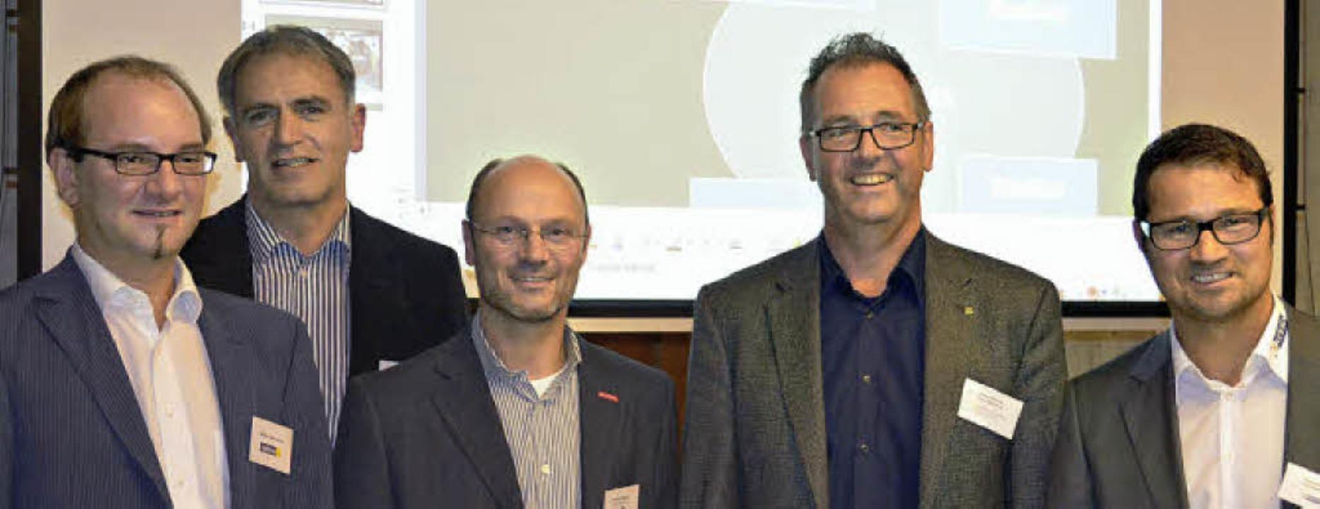 Die Teilnehmer an den 7. Bleibacher Ba...rchitekt Klaus Wehrle und Gerold Huber  | Foto: Nikolaus Bayer