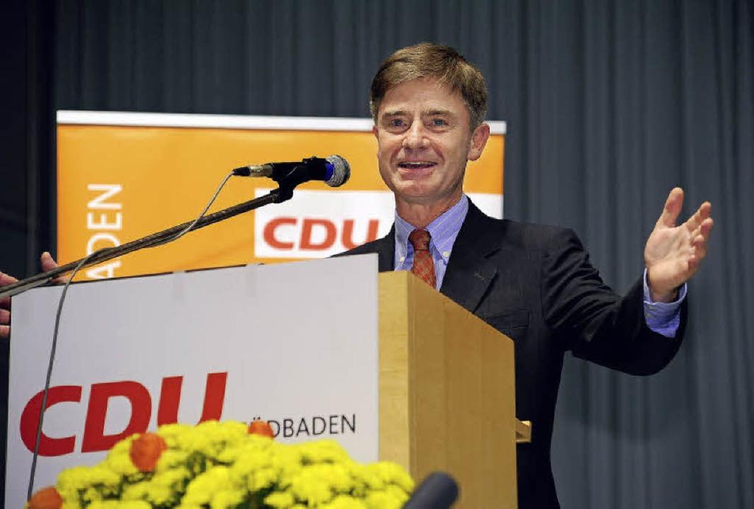 Erfolgreiche Bewerbung in der eigenen Partei: Matern von Marschall in Ihringen.   | Foto: thomas kunz